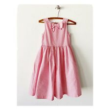 Janie & Jack 10 Dress The Butterflies Coral Crush Pink Pinstripe Sleeveless Bow