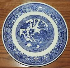 "VINTAGE BLUE WILLOW 9.25"" LUNCHEON PLATE"
