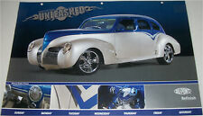 1939 Lincoln Zephyr Coupe car print (modified, blue & grey)