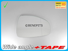 For Audi A1 2010-2015 Wide Angle Wing Mirror Glass +Strong TAPE Right Side A026