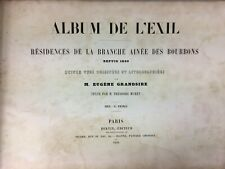 LIVRE ALBUM DE L EXIL EUGENE GRANDSIRE MURET BERTIN 1850 LITHOGRAPHIE H264