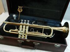 1985 BLESSING ARTIST USA Trumpet - Smooth Valves - Rose Brass Bell - Plays Great