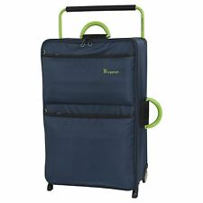 IT Luggage Worlds Lightest Medium 2 Wheel Suitcase 63L Poseidon/Lime Damage Box