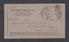USA 1900s THREE POST OFFICE DEPARTMENT NORTH CAROLINA POSTAL CARDS RPO & DUPLEX