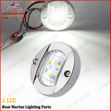 Round Marine Boat Navigation Lights LED Boats Stern Transom Anchor Light White
