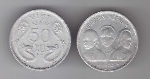 STATE OF SOUTH VIETNAM – RARE 50 XU COIN 1953 YEAR KM#3 DRAGONS