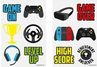 Gamer Temporary Tattoos Kids Party Bag Fillers 6-144 Choose Quantity