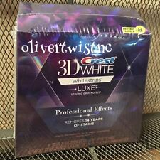 New Crest 3D Professional Effects Lux Whitestrips 20 Treatments EXPIRES JULY2017