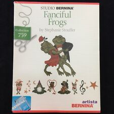 BERNINA Embroidery Designs Card #759 Fanciful Frogs Fits ARTISTA 180 200 730