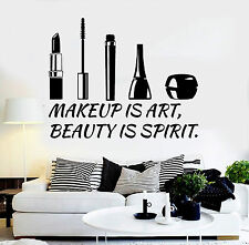 Vinyl Wall Decal Beauty Salon Quote Cosmetics Makeup Stickers (ig4507)