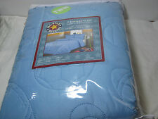 P & A Marketing ALL-STAR BEDDING 2 PC Twin Quilt and Sham Set Blue NIP
