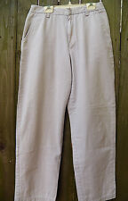 Calvin Klein Jeans Khaki Pants Size 6 3 Pockets 100% Cotton Excellent Condition
