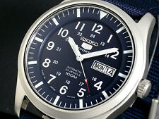 SEIKO 5 SNZG11 SNZG11J1 Army Nylon Japan Made Navy Original Box !