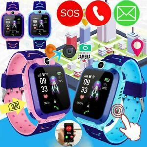 Kinder Telefonuhr Kids Smartwatch LBS Tracker Uhr SOS SIM Wasserdicht Armbanduhr