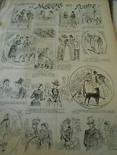 Typo 1890 Pèle Mèle de dessins Le Marché aux Fleurs