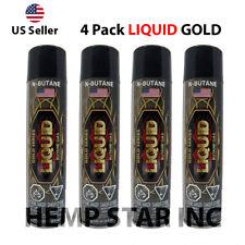 4 CANS (LIQUID - GOLD SERIES) BUTANE GAS 300ml 7X REFINED LIGHTER REFILL FUEL