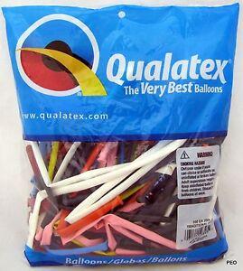 Qualatex Balloons Traditional Assort Animal Twist Multi 100 count bag 260 size