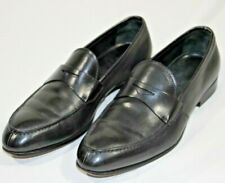 Men's sz 8 PRADA black leather penny loafer shoes  - EUC!