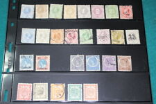 #9730,Estate Lot Unchecked Mostly 1800's Curacao Stamps Cat Value $200++