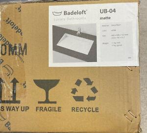 BADELOFT LUXURY BATHROOMS WHITE MATTE RAMP SINK UB-04 600 X 400