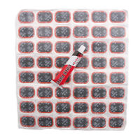 48pcs Bicycle Motor Bike Tire Tyre Tube Rubber Patches Puncture Repair Tool Kit