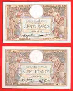 4 billets 100 Francs Luc Olivier Merson
