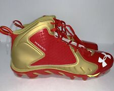 Men's Under Armour Clutch Fit Ua Football Cleats Red/Gold Size 15 1270491-600