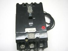 GE TEY320ST12 SHUNT TRIP 120V COIL 3 POLE 20 AMP 480V Breaker TEY320 ~