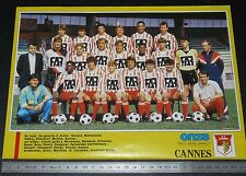 CLIPPING POSTER FOOTBALL 1987-1988 AS CANNES ASC LA BOCCA