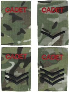 ACF Cadet Rank Slides MTP Multicam Army Cadet Force Pair Kombat UK