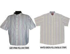 Camicie casual e maglie da uomo grigio a righe in cotone