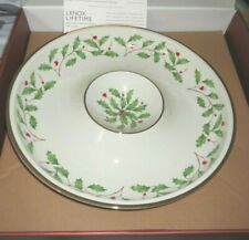 Lenox Holiday Chip And Dip Bowl ~ New in Box