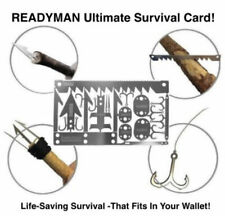 READYMAN Ultimate Survival Card 2.0 - Survival That Fits In Your Wallet!