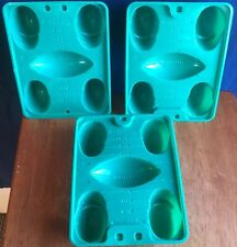 Jello Jigglers Foodball Mold Green Plastic Lot of 3 Jello Shots Candy