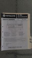 Hitachi d-55s service manual original repair book stereo tape deck player