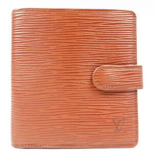 LOUIS VUITTON Porte Billets Compact Folded Wallet Epi M63553