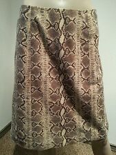 Oscar by Oscar de la Renta Snake Python Animal Print Lambsuede Leather Skirt 8