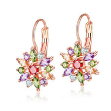 Multi Color Mother's Day Jewelry Gifts Morganite Peridot Gem Topaz Lady Earrings