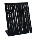 Black Jewelry Pendant Necklace Display Stand Holder Organizer Storage Cases