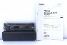 Sony Radio CD Player CDX-C4750 CD/MD CHANGER CONTROLS face plate only W/manual