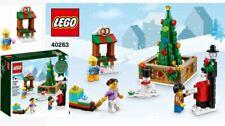LEGO Christmas Tree Holiday Town Square SLEIGH Pretzel SNOWMAN Mailbox 40263