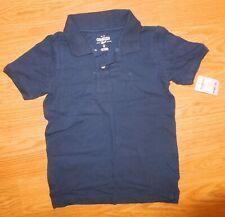 OshKosh B'gosh Short Sleeve Polo Sleeve Shirt Cotton 100% Nwt Size6 Navy
