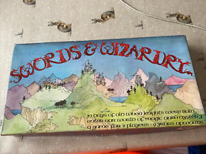 Rare HPGibson Swords and Wizardry Vintage Board Game Strategy