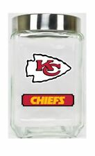 Kansas City Chiefs Jar Glass Canister Large Container With Lid Duckhouse NFL