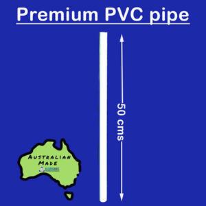 20mm Premium PVC Pipe 50cm White - No Writing
