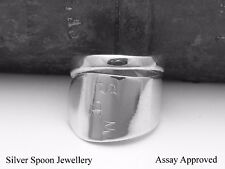 GEORGIAN SOLID STERLING SILVER SPOON RING ASSAY APPROVED SIZE I J K L