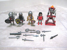 Vintage Playmobil Knight Squire Figure Weapons Rack Sword Replacement Items Lot