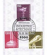 RFA 1982: Farbfernsehkamera+Équipement de distillation + Monorail N° 1134+1135+