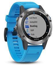 Garmin Quatix 5 Blue Premium 'ATCH Multisport Marine Smartwatch w/ HR Monitor