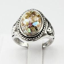 Shells Amber Gemstone New  Jewelry 925 Silver Men Women Ring Size 9